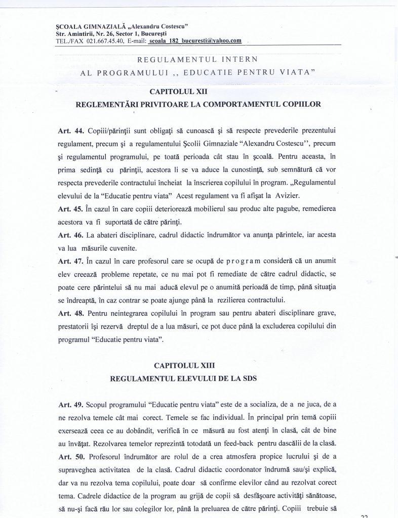 1Regulamentul intern al elevului SDS